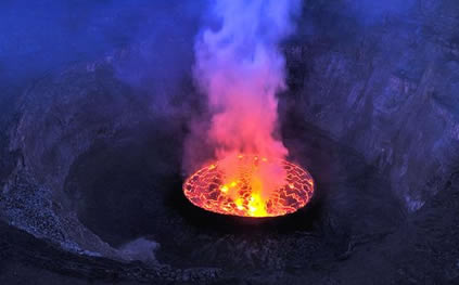 mount nyiragongo volcanoes world magnificent and
