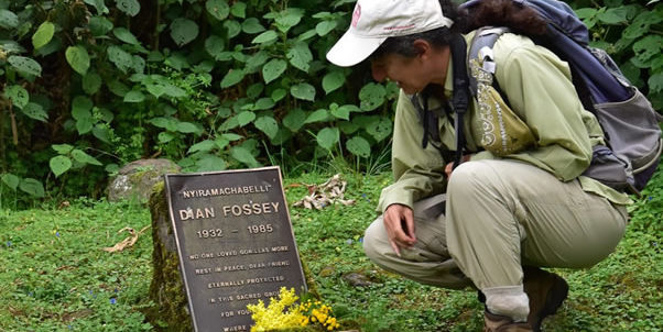 Hiking to Dian Fossey tomb
