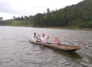 Boat cruise on lake Bunyonyi